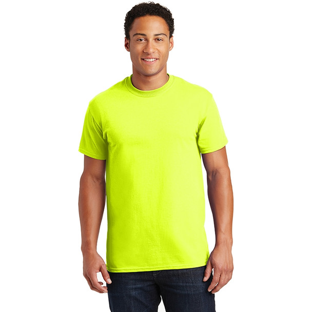 Gildan Enhanced Visibility Ultra Cotton T-Shirt 2000 Safety Green/Front