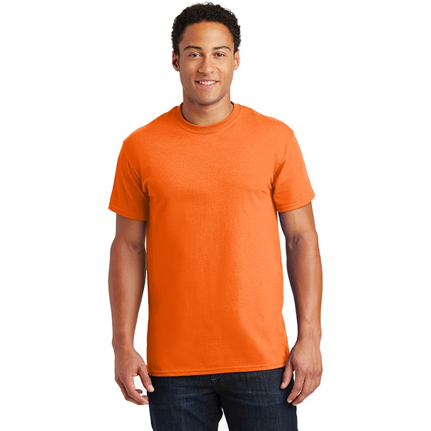 Gildan Enhanced Visibility Ultra Cotton T-Shirt 2000 Safety Orange/Front