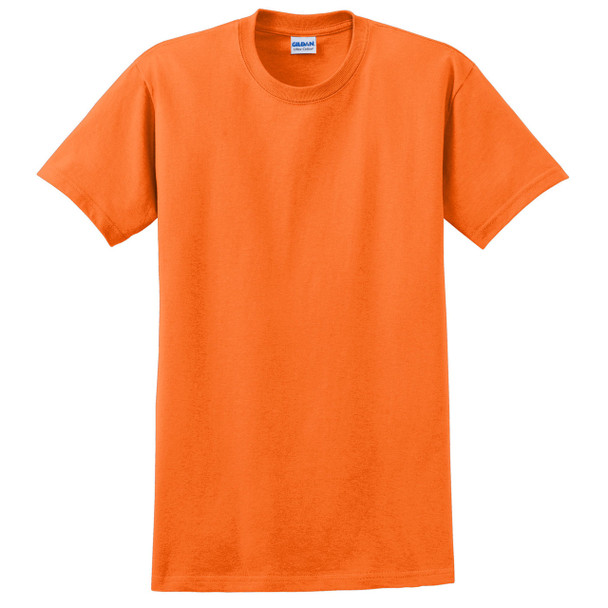Gildan Enhanced Visibility Ultra Cotton T-Shirt 2000 Safety Orange Front