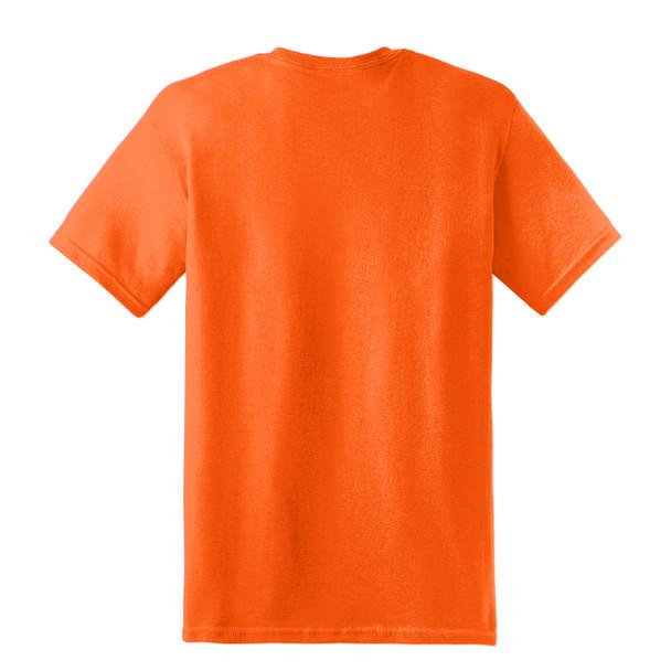 Gildan Hi Vis Heavy Cotton T-Shirt 5000 Safety Orange back