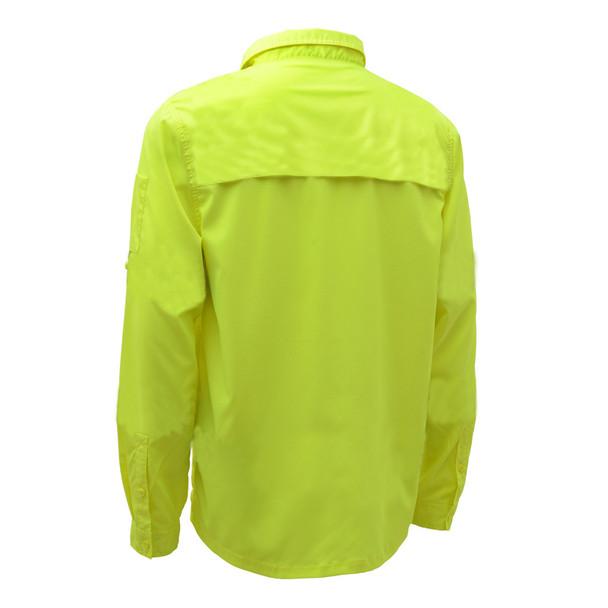 GSS Non-ANSI Hi Vis Lightweight Lime Rip Stop Work Shirt 7507 Back