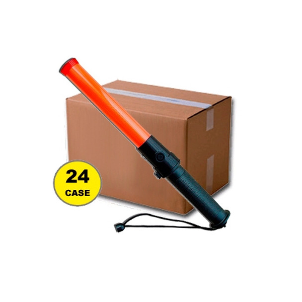 Case of 24 Red 15 Inch LED Traffic Batons 410-CASE