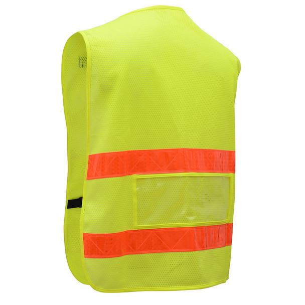 GSS Non-ANSI Enhanced Visibility Lime Mesh Vest 3111 Back
