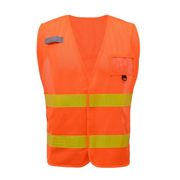 GSS Non-ANSI Enhanced Visibility Orange Mesh Vest 3112 Front