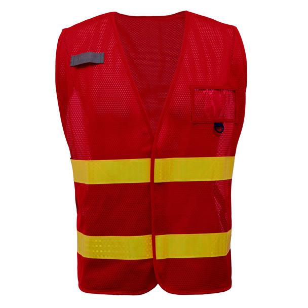 GSS Non-ANSI Enhanced Visibility Red Mesh Vest 3114