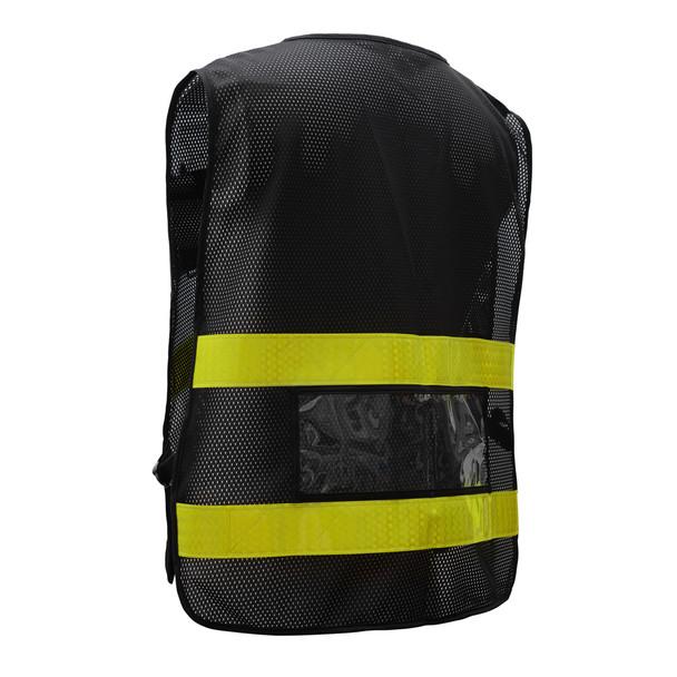 GSS Non-ANSI Enhanced Visibility Black Mesh Vest 3115 Back