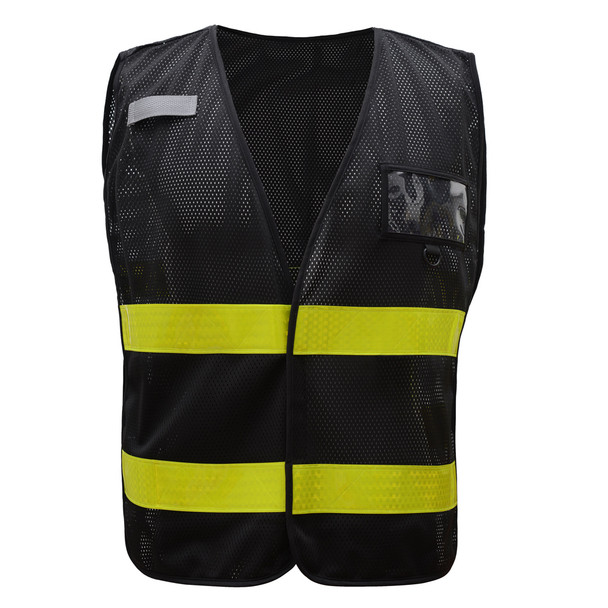 GSS Non-ANSI Enhanced Visibility Black Mesh Vest 3115 Front