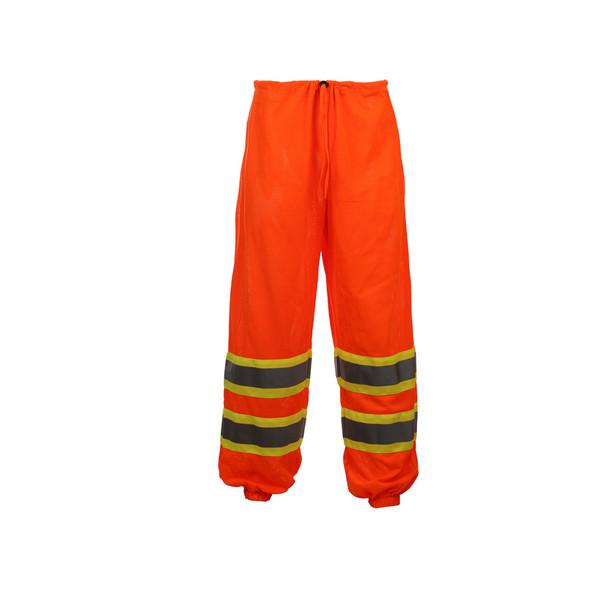 GSS Class E Hi Vis Orange 2 Tone Trim Mesh Pants 3804 Back