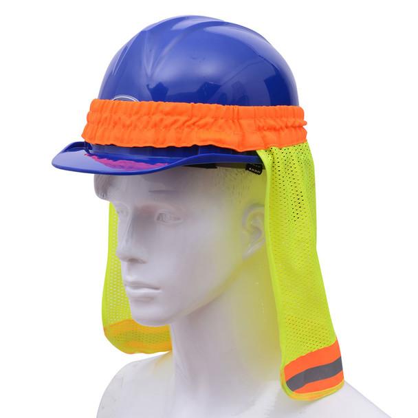 GSS Hi Vis Lime Sun Shield for Hard Hat 9301 Right Side