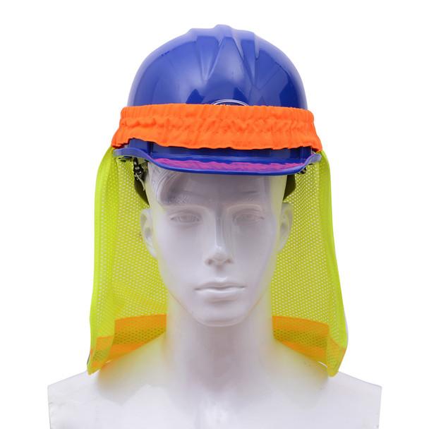 GSS Hi Vis Lime Sun Shield for Hard Hat 9301 Front