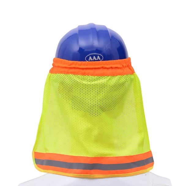 GSS Hi Vis Lime Sun Shield for Hard Hat 9301 Back
