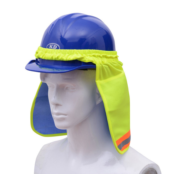 GSS Hi Vis Lime Sun Shield with PVA Cooling for Hard Hat 9303 Profile