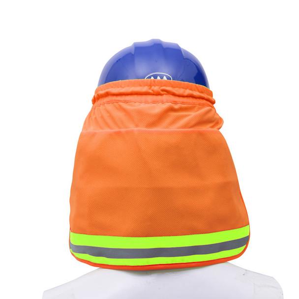 GSS Hi Vis Orange Sun Shield for Hard Hat 9304 Back