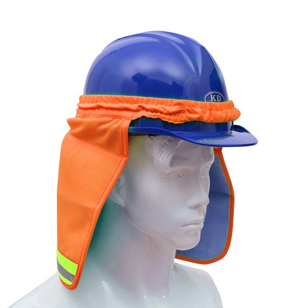 GSS Hi Vis Orange Sun Shield for Hard Hat 9304 Side Profile