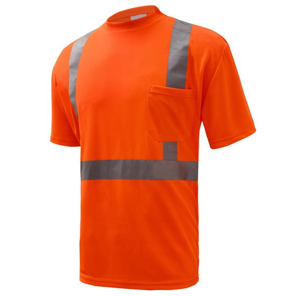 GSS Class 2 Hi Vis Orange Class 2 Short Sleeve T-Shirt 5002 Left Side
