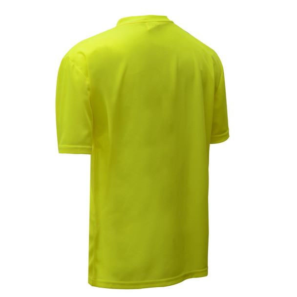 GSS Non-ANSI Hi Vis Lime Moisture Wicking T-Shirt 5501 Back