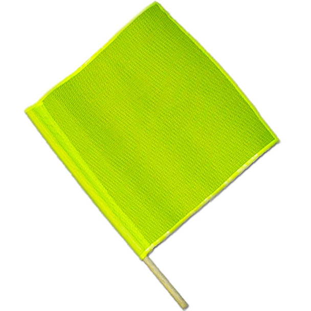 Safety Flag Made With Florescent Yellow Mesh SFKV18-24L