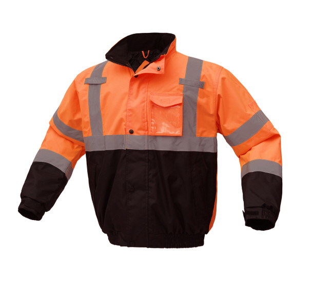 GSS Class 3 Hi Vis Orange Winter Bomber Jacket with Quilt Lining 8002 Right Side