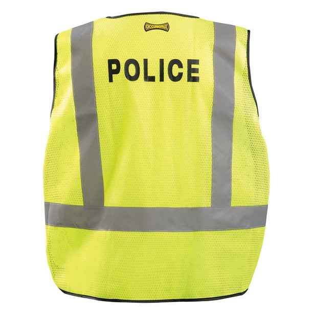 Occunomix Class 2 Police Public Safety DOR Mesh Vest LUX-PSP-DOR Back