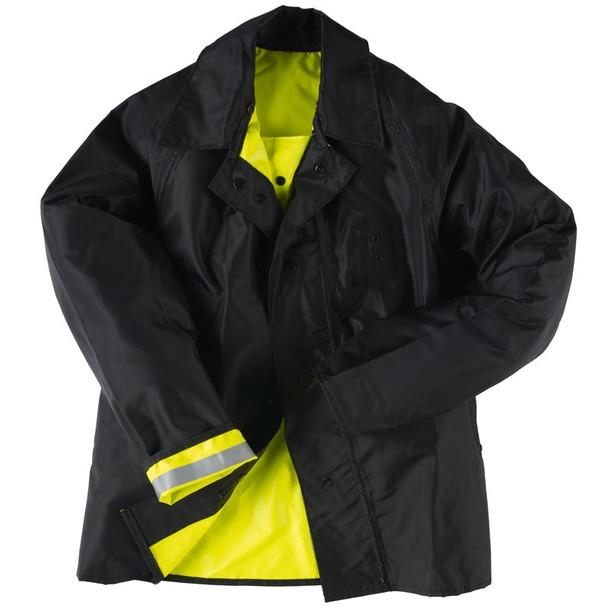 Neese Class 3 Hi Vis Yellow Safe Officer Reversible Police Rain Jacket 4703 Reversed