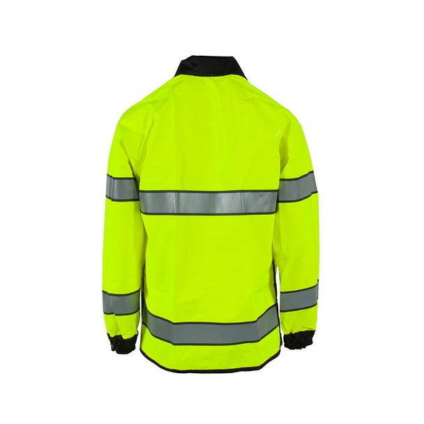 Neese Class 3 Hi Vis Yellow Safe Officer Reversible Police Rain Jacket 4703 Back