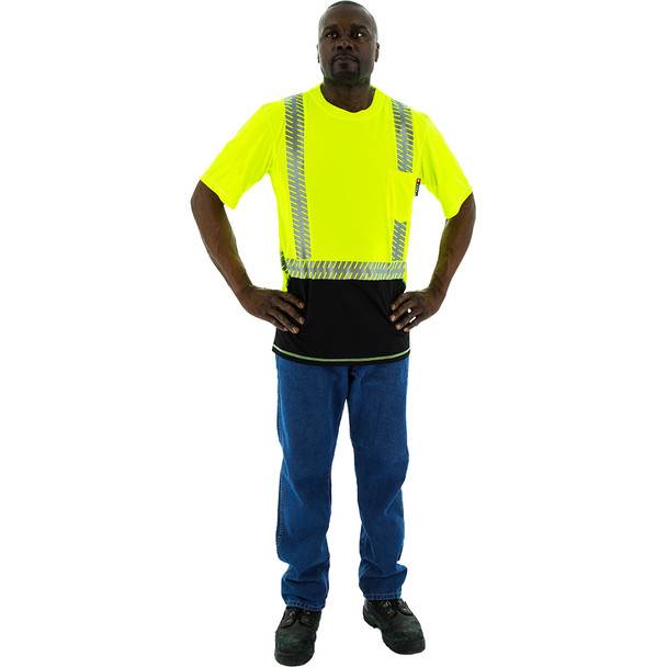 Majestic Hi Vis Class 2 Yellow T Shirt with Chainsaw Reflective 75-5217
