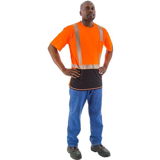 Majestic Class 2 Hi Vis Orange T-Shirt with Chainsaw Reflective 75-5218