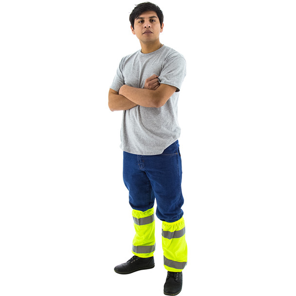 Majestic Pack of 10 Class E Hi Vis Yellow Gaiters 75-2391