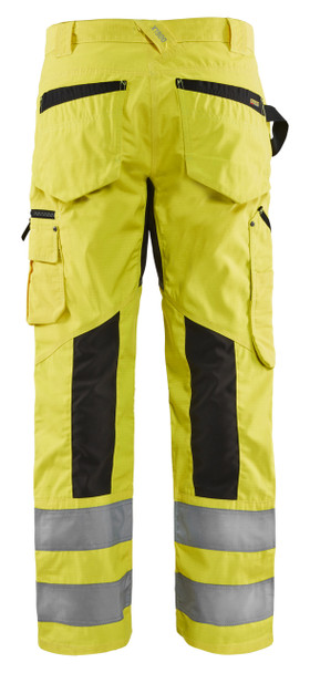 Blaklader Class E Hi Vis Yellow Black Bottom Rip Stop Pants 169918313399 Back