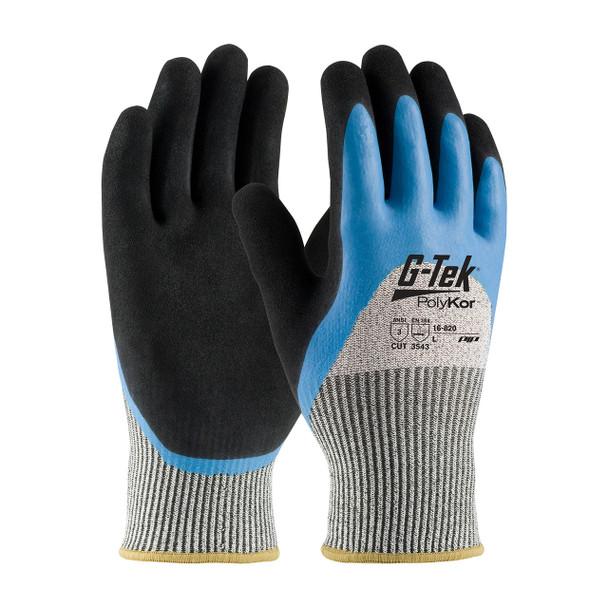 PIP Box of 72 Pair A3 Cut Level G-Tek Polykor Gloves 16-820 Top/Side Palm