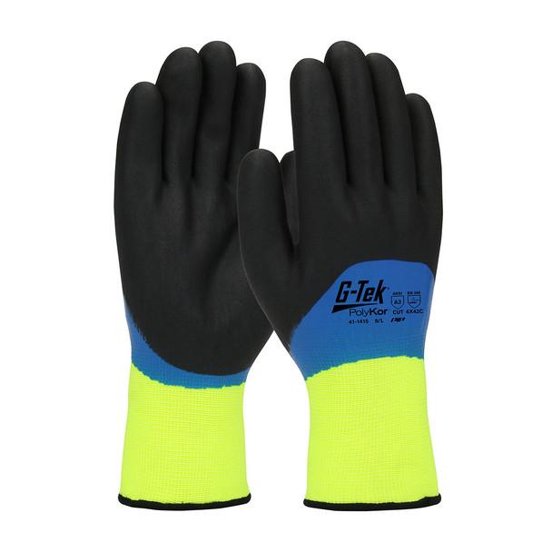 PIP Box of 72 Pair A3 Cut Level G-Tek Hi Vis Seamless Knit Nylon Gloves 41-1415