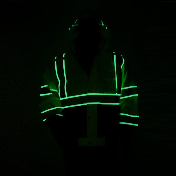 Alpha Workwear Class 3 Hi Vis Glow in Dark Bomber Jacket A262 Illuminated