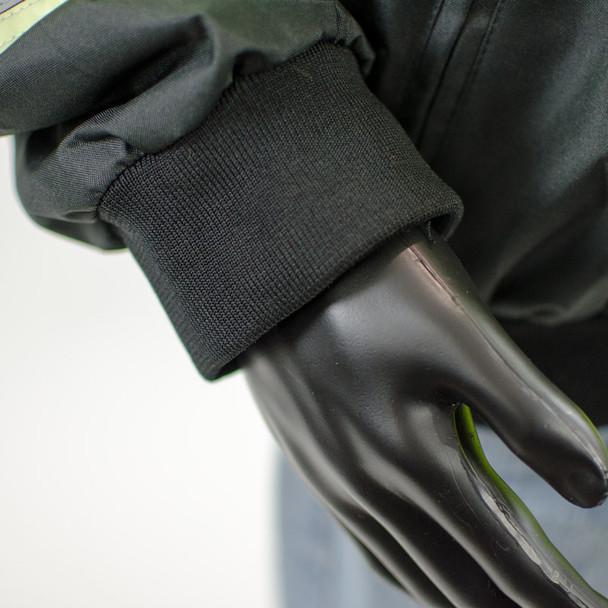 Alpha Workwear Class 3 Hi Vis Glow in Dark Bomber Jacket A262 Cuff