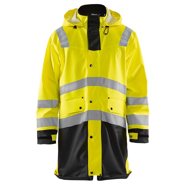 Blaklader Class 3 Hi Vis Yellow Rain Jacket 431620033399 Front