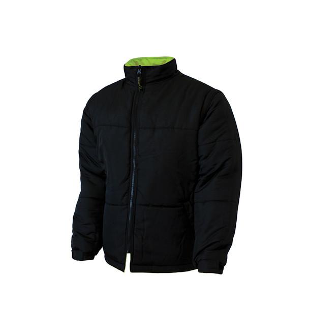 Work King Safety Class 3 Hi Vis X-Back Black Bottom Trim 5-in-1 Jacket S426 Reversed Jacket
