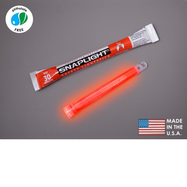 Cyalume Box of 100 Red Glow Sticks 9-08089
