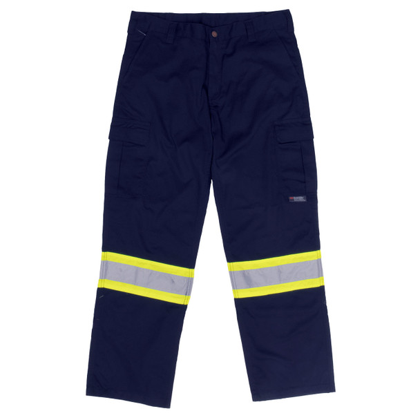 Work King Safety Class E Enhanced Vis Navy Work Pants S607 Front
