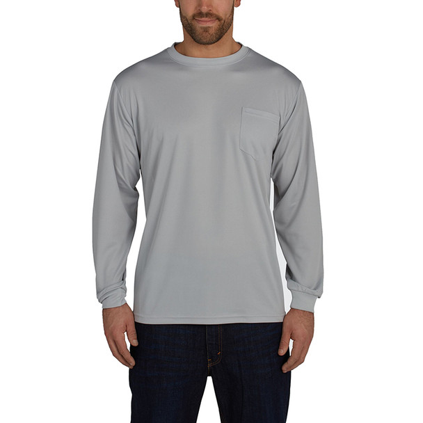 Utility Pro Long Sleeve Birdseye Shirt with Perimeter Insect Guard and SPF 35 UHV856-GRY