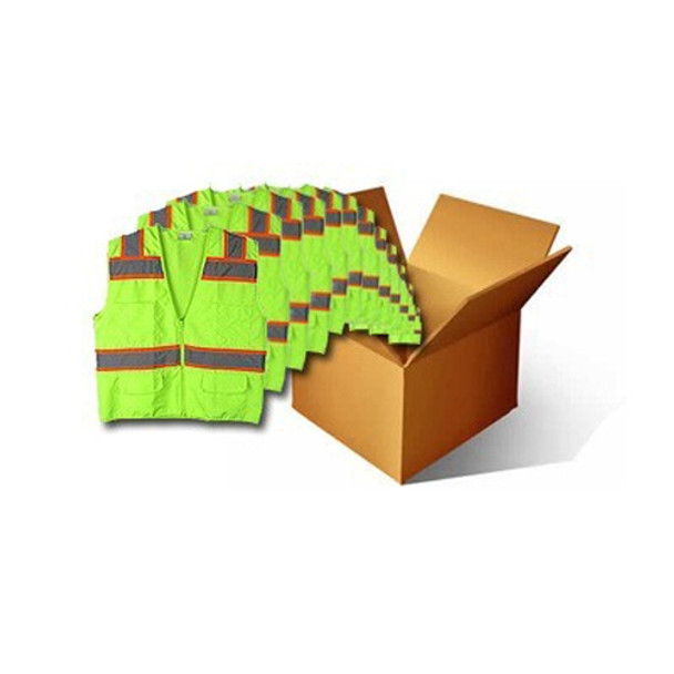 Macro Industries Case Of 48 Class 2 Hi Vis Lime Safety Vests SV5000-CASE