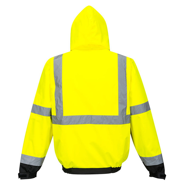 PortWest Class 3 Hi Vis 3-in-1 Bomber Jacket US365 Back