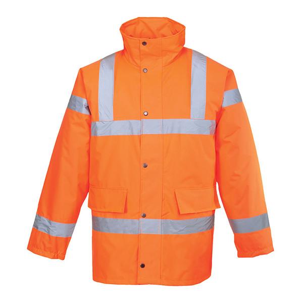 PortWest Class 3 Hi Vis Orange Traffic Jacket URT30 Orange Front