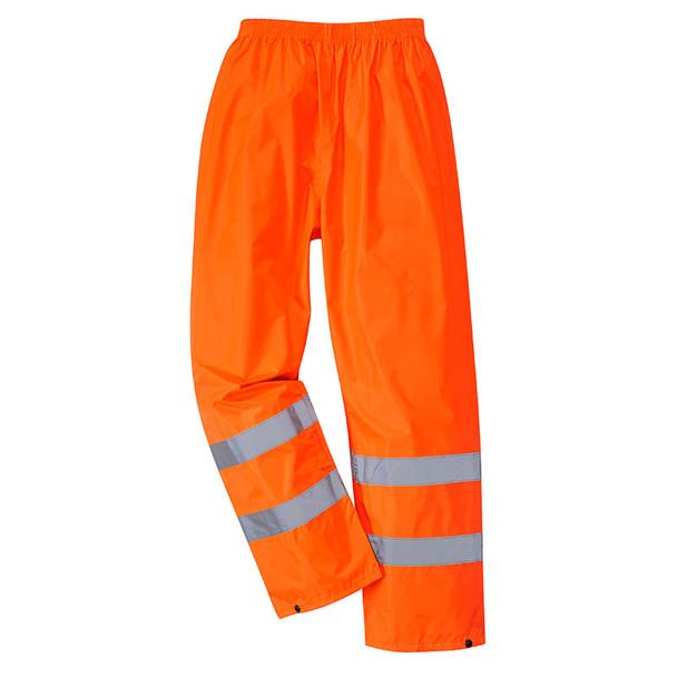 PortWest Class E Hi Vis Rain Pants H441 Orange Front