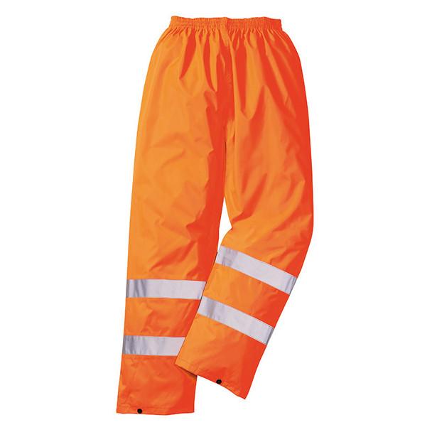 PortWest Class E Hi Vis Rain Pants H441 Orange Back