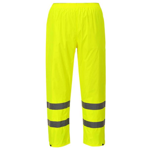 PortWest Class E Hi Vis Rain Pants H441 Yellow Front