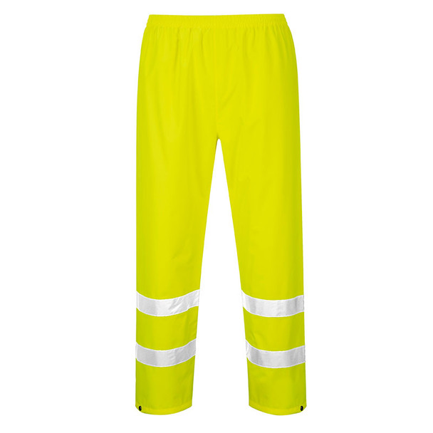 PortWest Class E Hi Vis Rain Pants H441 Yellow Back
