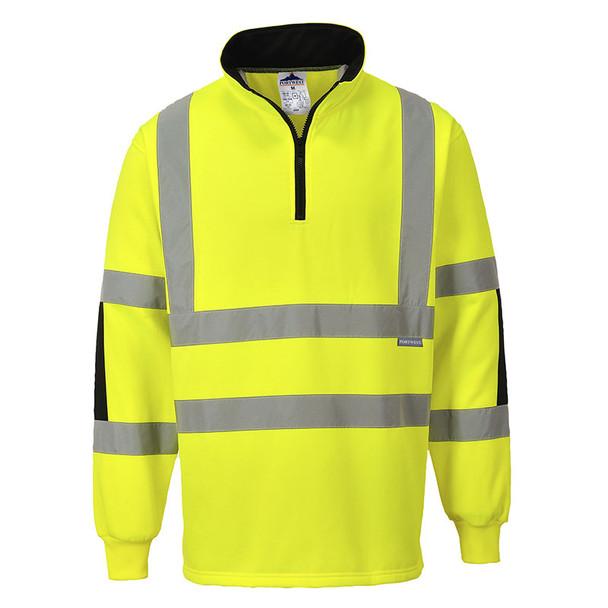 PortWest Class 3 Hi Vis Yellow Xenon Rugby Shirt B308