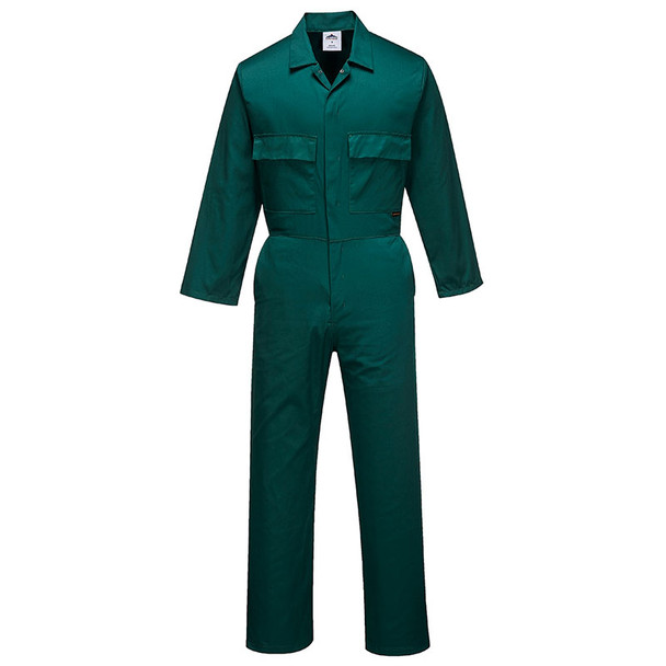 PortWest Polycotton Unlined Coverall S999 Bottle Green