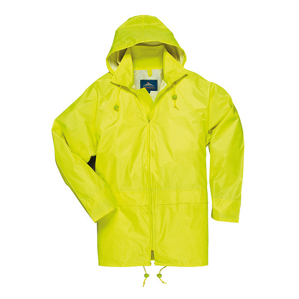 PortWest Non-ANSI Yellow Classic Rain Jacket US440YE with Hood