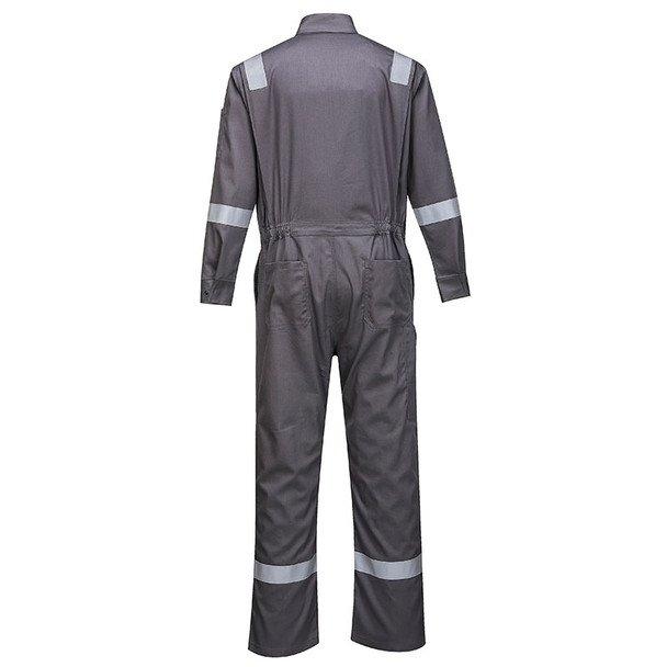 PortWest FR Bizflame Iona Unlined Coverall FR94 Grey Back