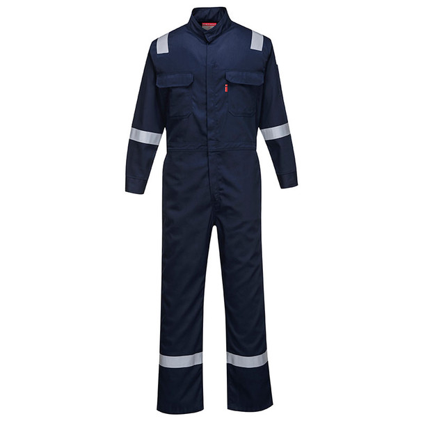 PortWest FR Bizflame Iona Unlined Coverall FR94 Navy Front
